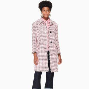 NWT Kate Spade Multi Tweed Coat Peppy Pink 8